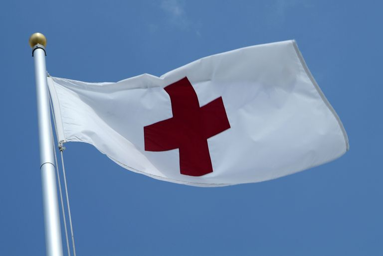 The flag of the American Red Cross