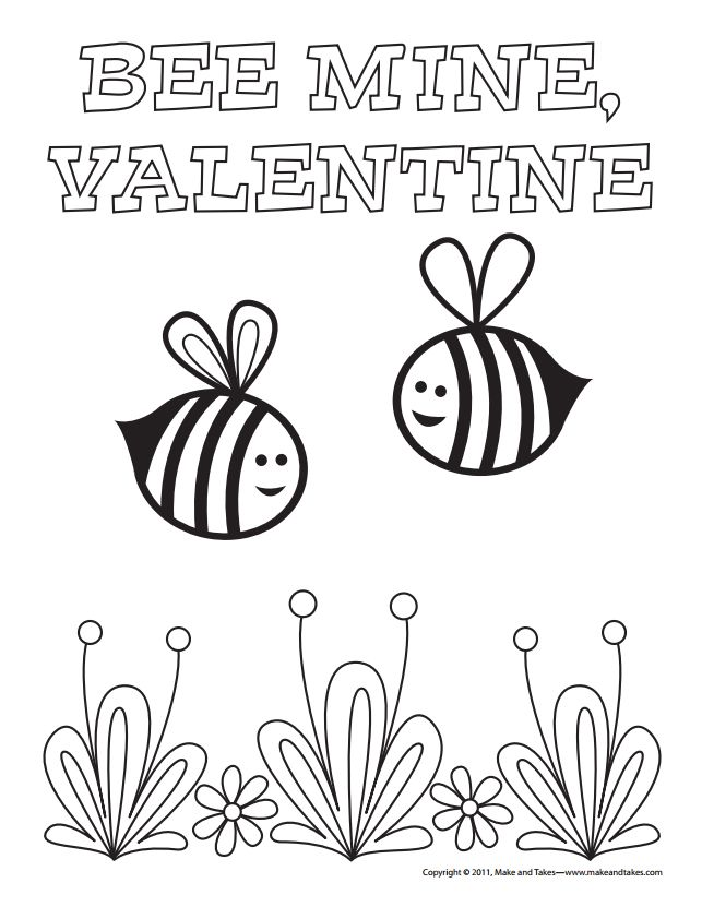 Free, Printable Valentine\'s Day Coloring Pages for Kids
