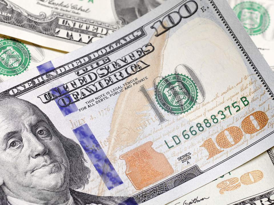 close up of $100 US dollar note