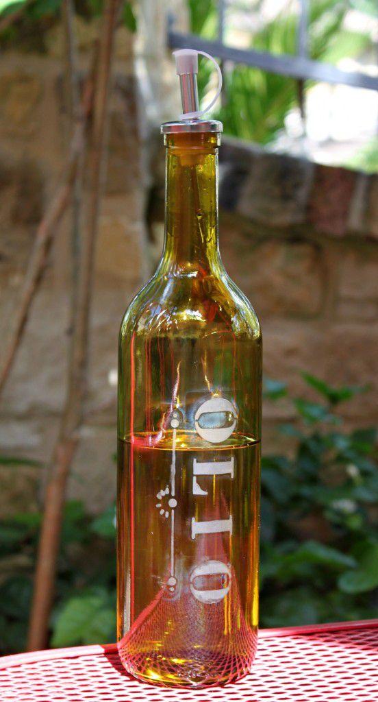 etched oil dispenser