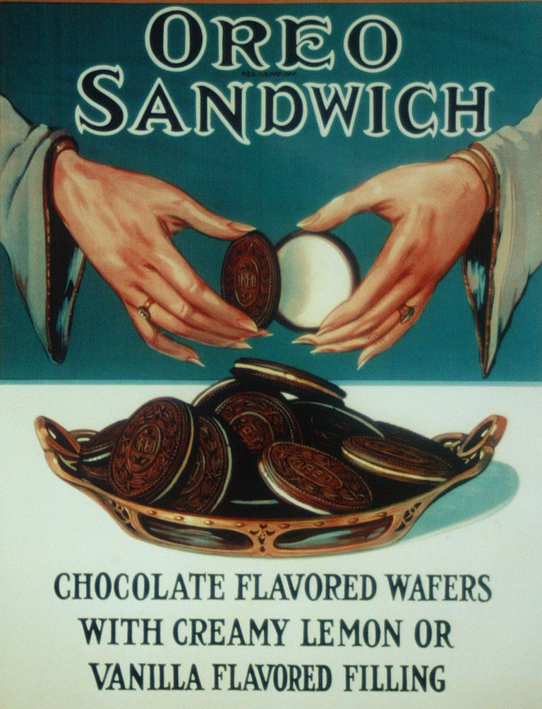 An Oreo cookies advertisement circa 1924.