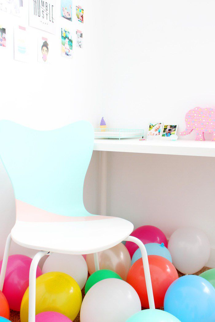 DIY Color Blocked Office Chair