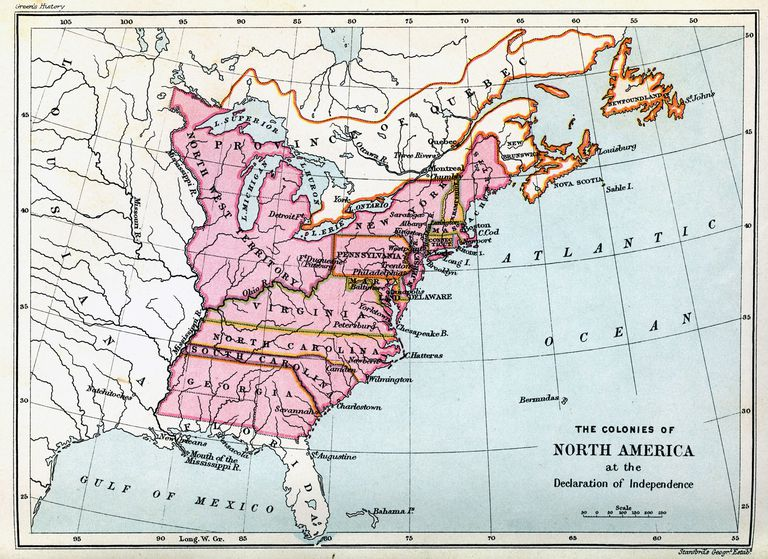 Colonies of North America in 1776