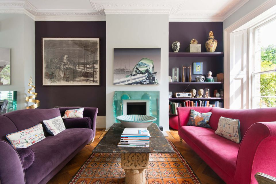 velvet-furniture-purple-and pink