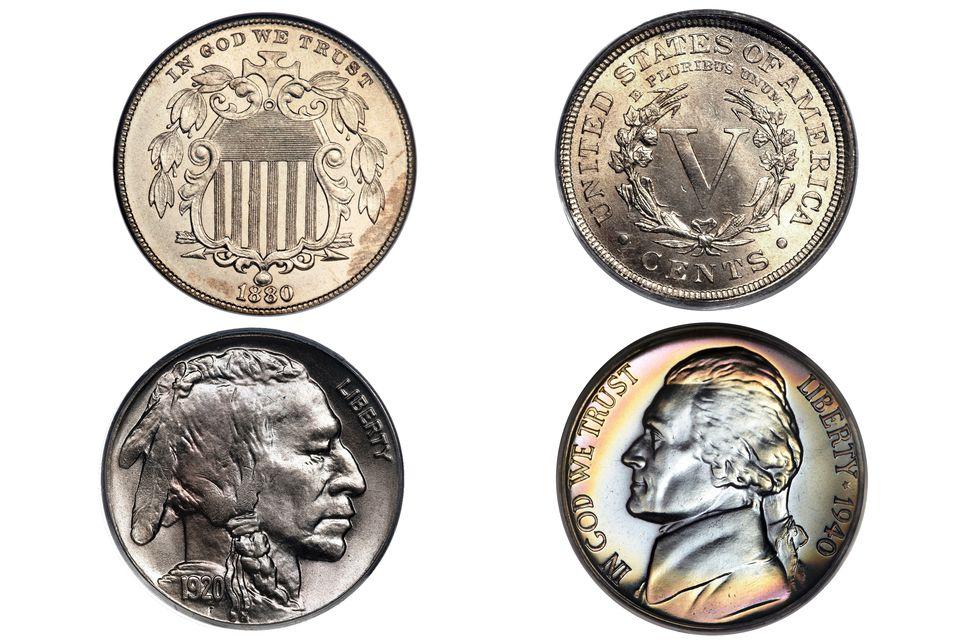 US nickel type coins