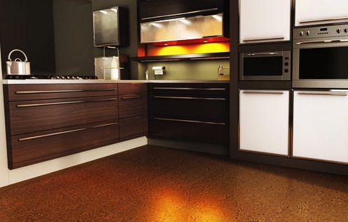 Dark Brown Kitchen Flooring