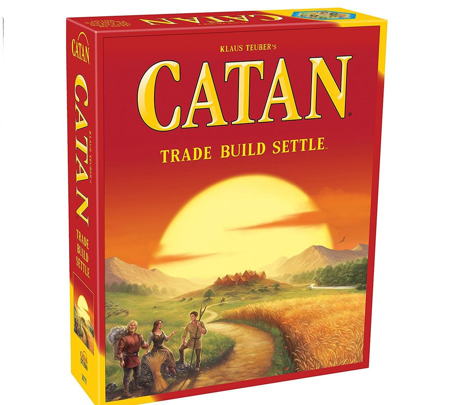 Settlers of Catan is fun for grandparents and grandchildren