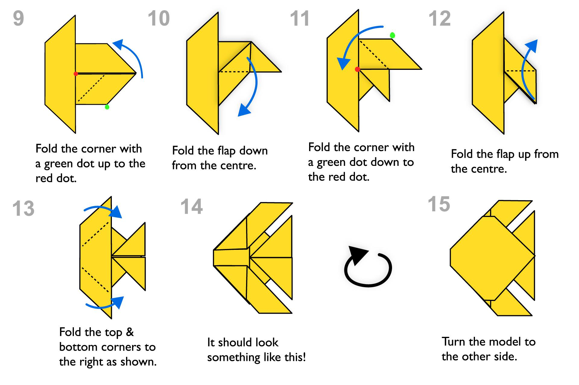 Traditional origami fish instructions jeuxipadfo Image collections