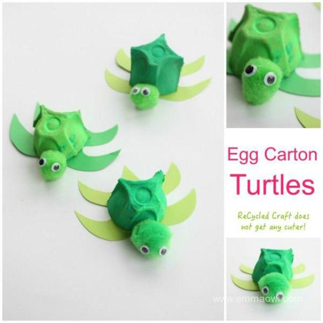 egg carton turtle