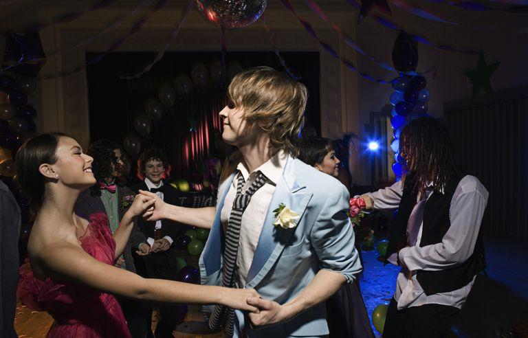 Teens Dancing at Prom