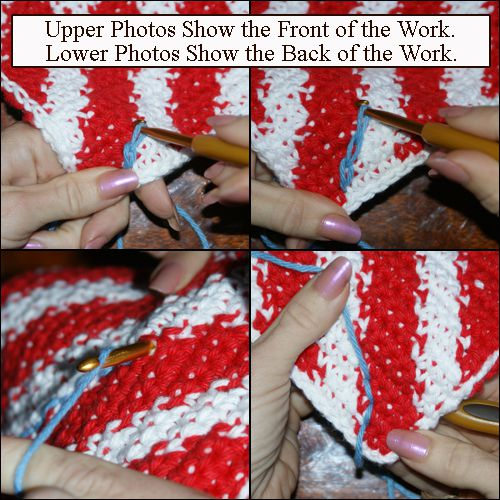 Surface Crochet Tutorial -- How to Work Slip Stitches on the Surface of a Crocheted Fabric
