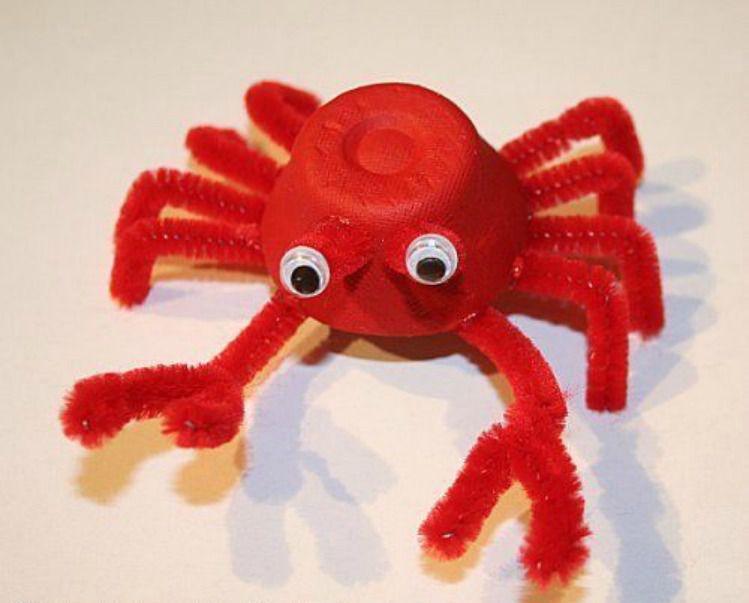 Egg Carton Crab Craft for Kids