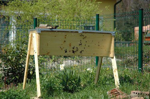 A top bar beehive.