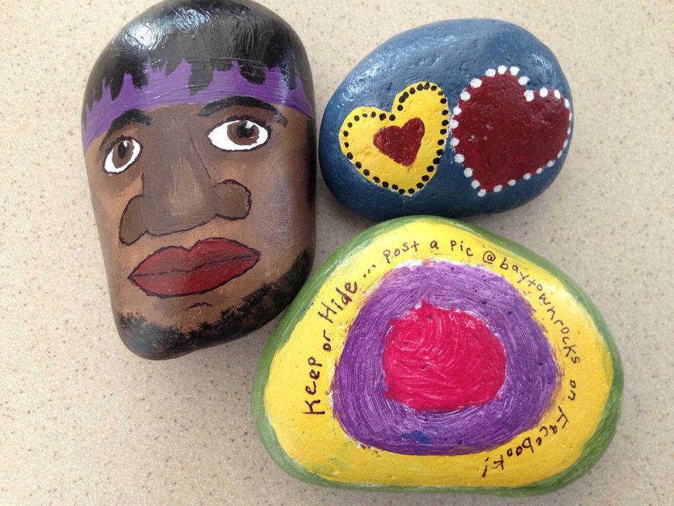paint and hide rocks with grandchildren