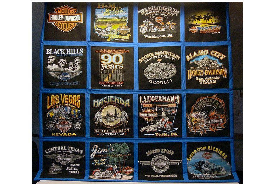 Harley Davidson T-Shirt Quilt