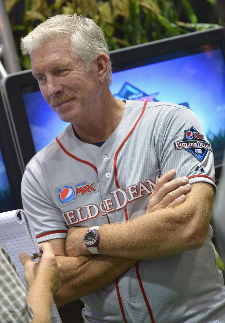 KANSAS CITY, MO - JULY 10: MLB Hall of Famer Mike Schmidt is interviewed during the announcement of the fan-selected American League and National League Pepsi MAX Field of Dreams team members during MLB All-Star FanFest at Kansas City Convention Center on July 10, 2012 in Kansas City, Missouri.