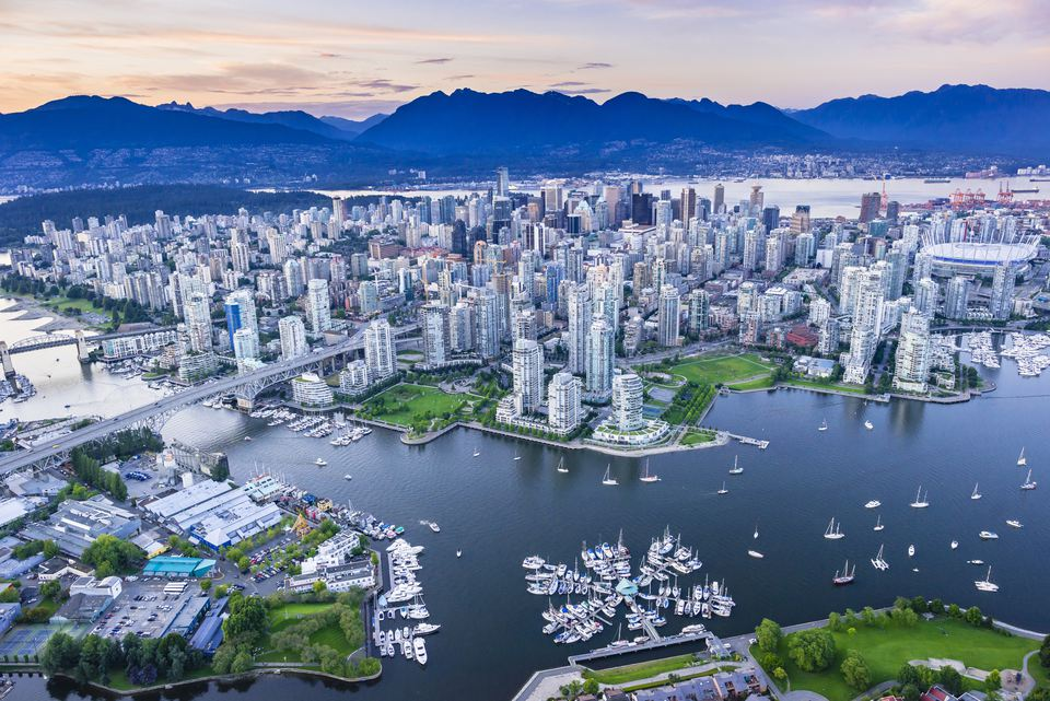 Vancouver with False Creek in foreground.
