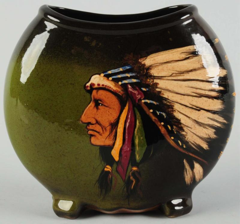 Weller Louwelsa American Indian Chief Pillow Vase