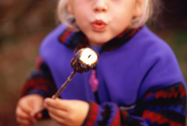 Little Girl with Toasted Marshmallow