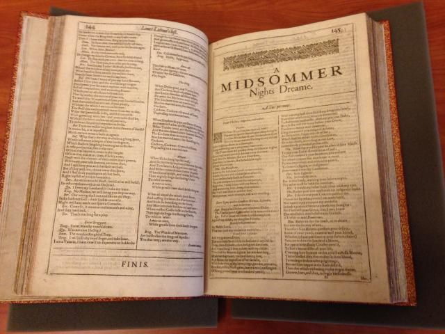 Shakespeare First Folio at the Lilly Library