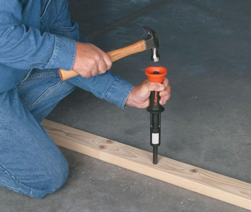 Use Powder Actuated Nailer To Drive Nails In Concrete