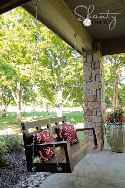 Build a Wooden Porch Swing With These Free Plans