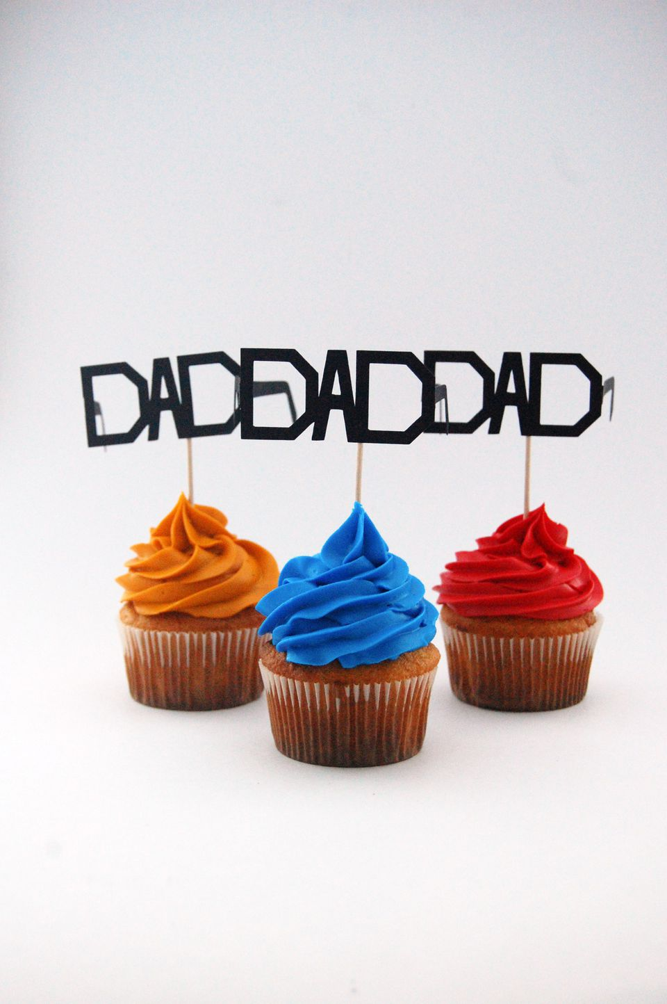 DIY Dad Father's Day Cupcake Topper