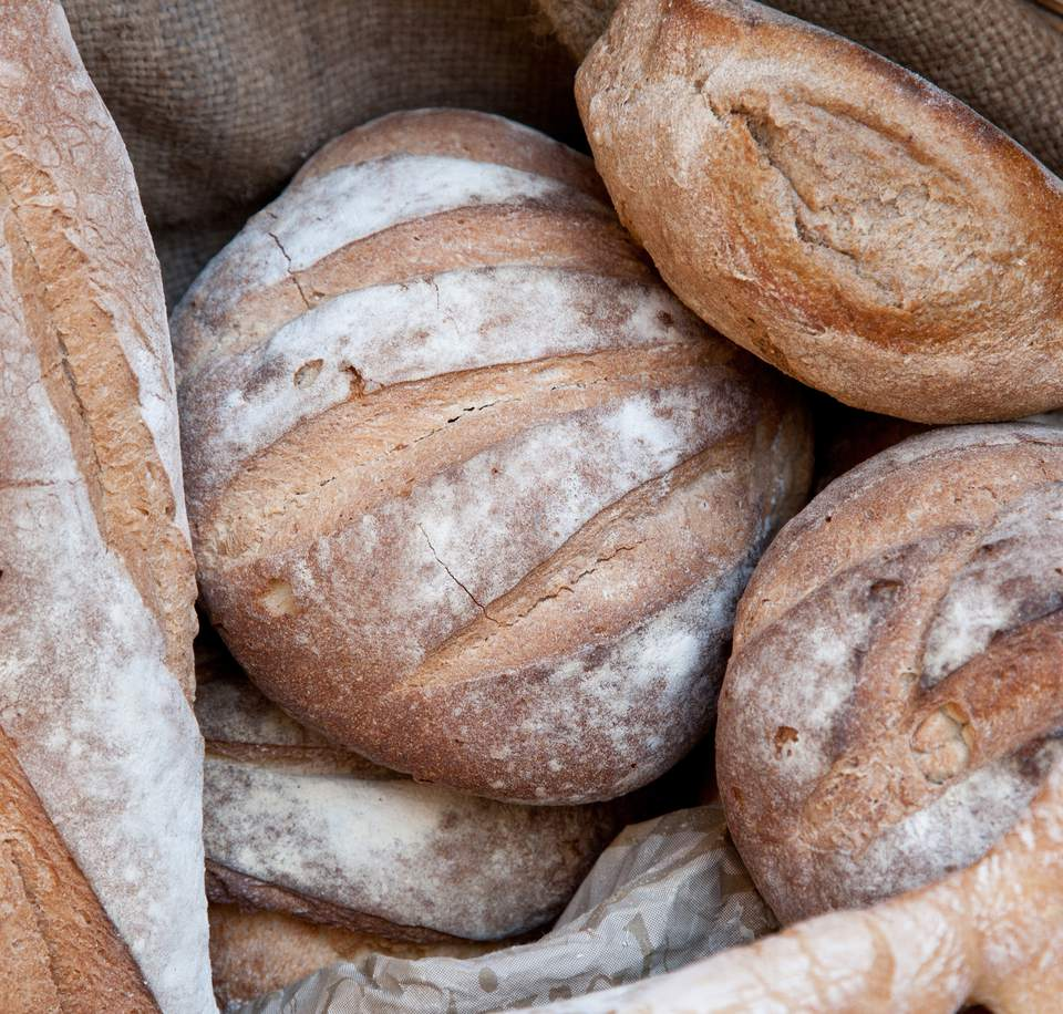 Close-Up Of Fresh Breads