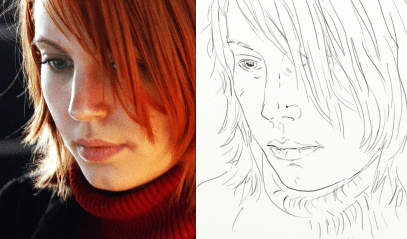Continuous Line Drawing Face : Line drawing essential tips for beginners