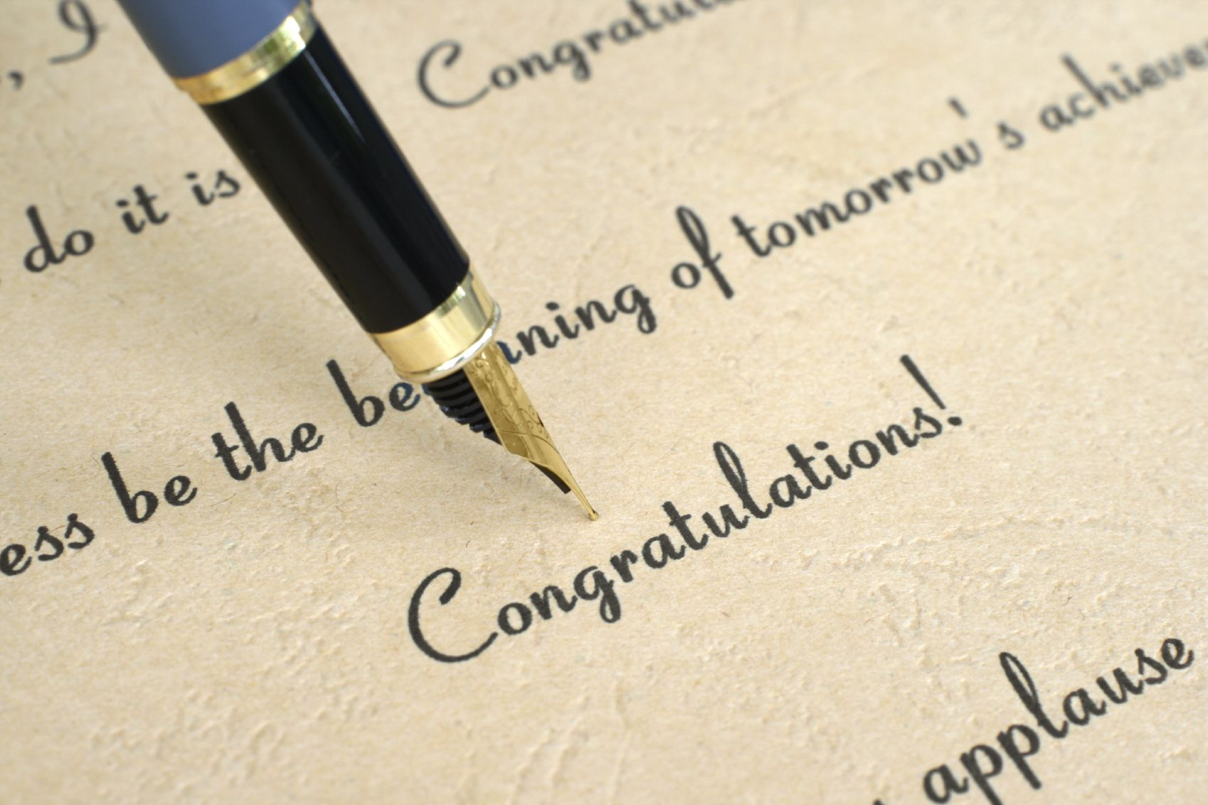 Moving On Congratulations Letter Example