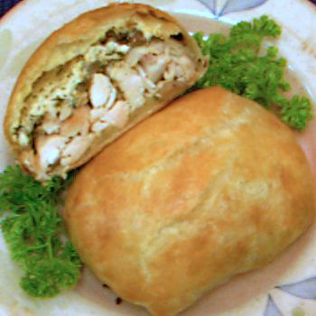 chicken recipe, wellington, easy, poultry, puff pastry, cream cheese, receipts