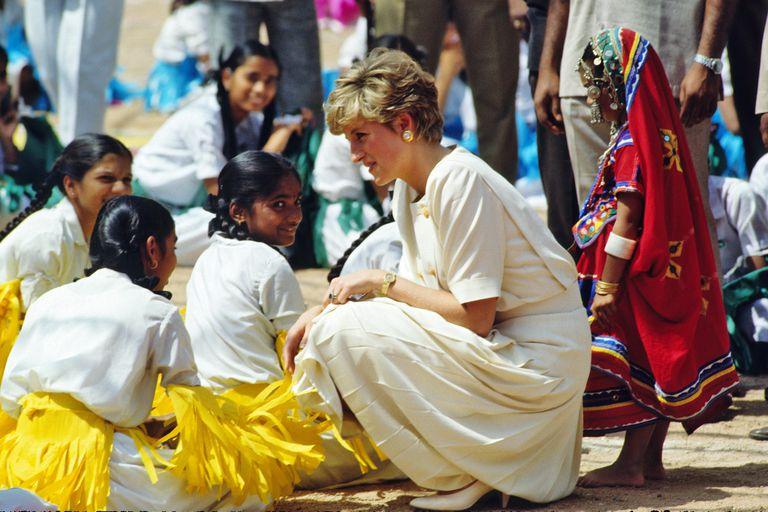 Princess Diana in Hyderabad, India, 1992