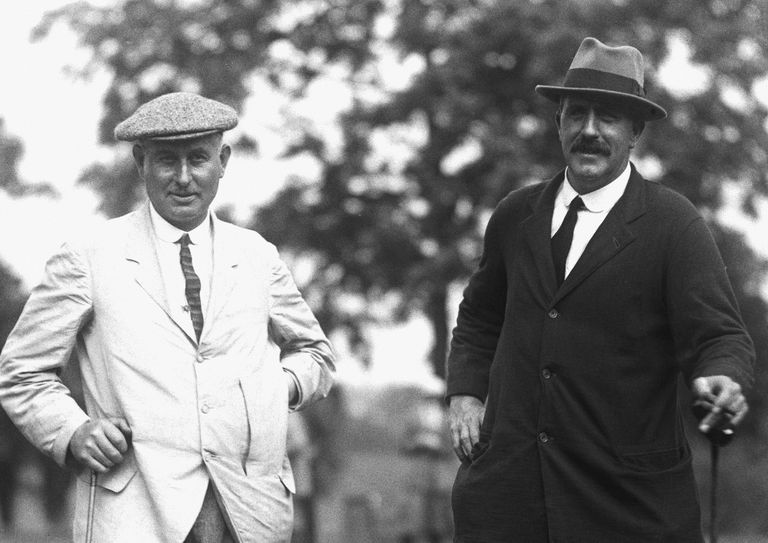 Golfers Harry Vardon and Ted Ray pictured in 1920