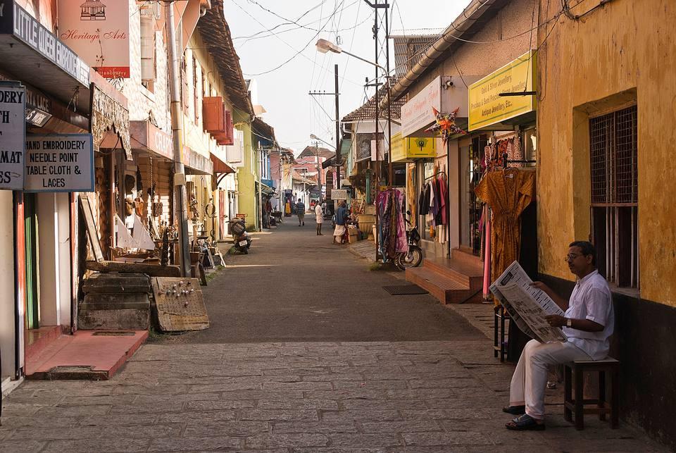 Jew Town street, Kochi.