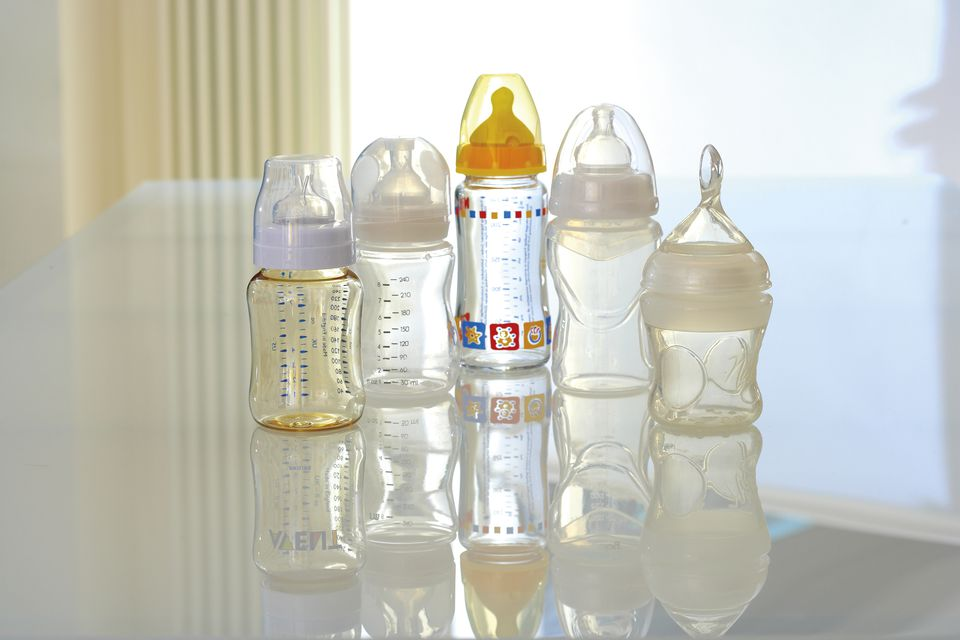 Selection of baby bottles