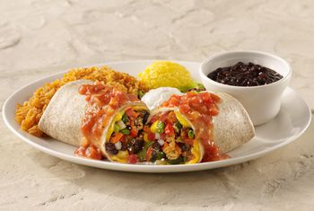 Quick Vegetarian Burrito With Sweet Potato And Black Beans