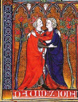 David and Jonathan - Illuminated Manuscript