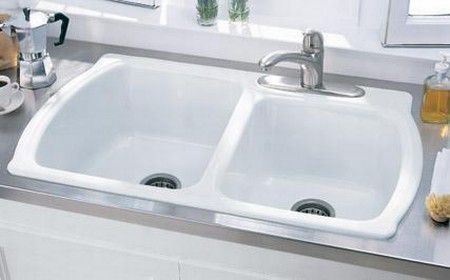 Corian Kitchen Sinks The basics of corian sinks corian sink conventional drop in double bowl workwithnaturefo