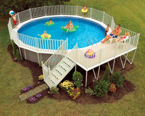 an above ground pool design