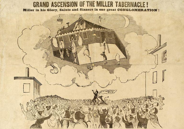 Illustration depicting ascension of Miller Tabernacle
