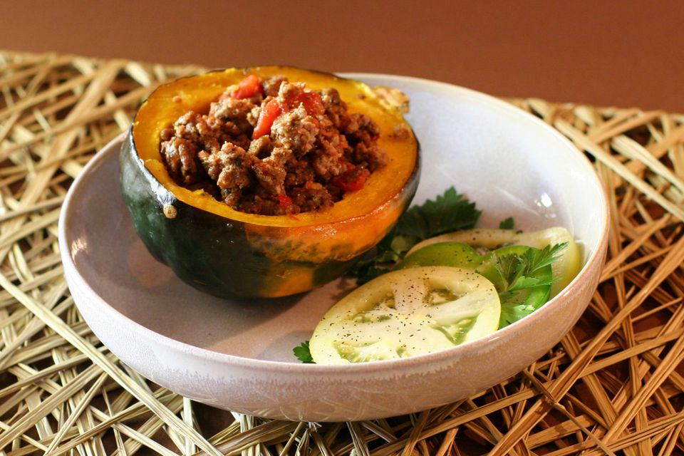 Stuffed Acorn Squash with Spiced Beef