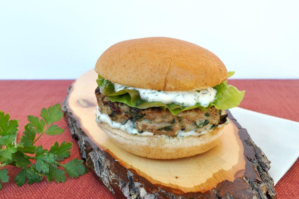 green goddess turkey burger