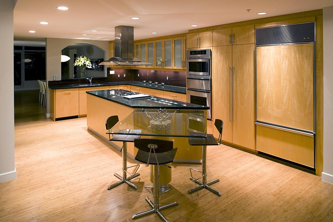 Rubber kitchen flooring tiles and sheets things to consider if you want bamboo flooring in your kitchen dailygadgetfo Gallery