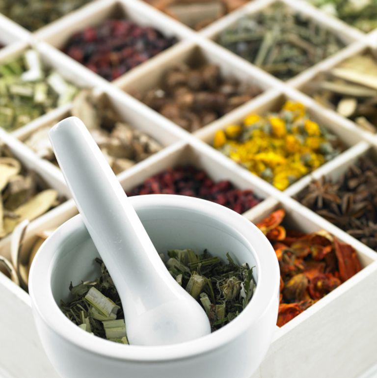 Plantas y hierbas en contenedores
