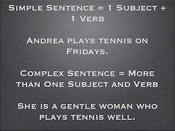 Simple and Complex Sentences