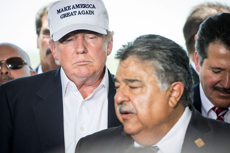 Donald Trump near Mexico