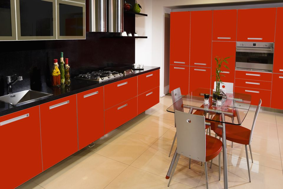 Interiors of the kitchen
