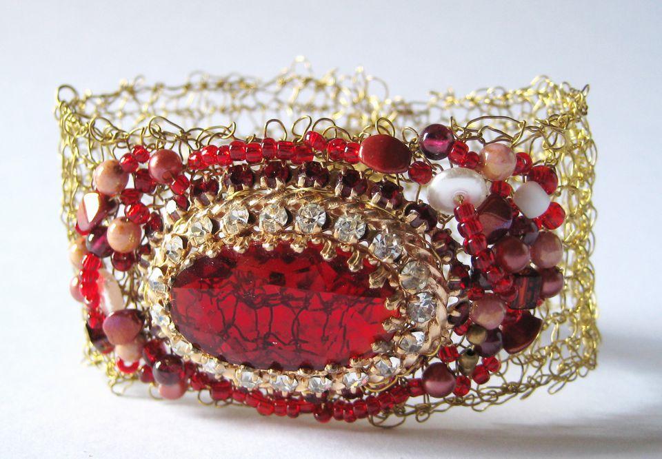 Knit wire bracelet