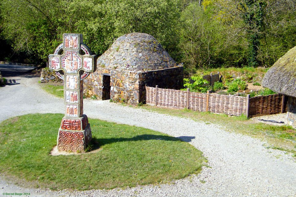 Medieval Monastic Complex - complete with a colourful high cross.