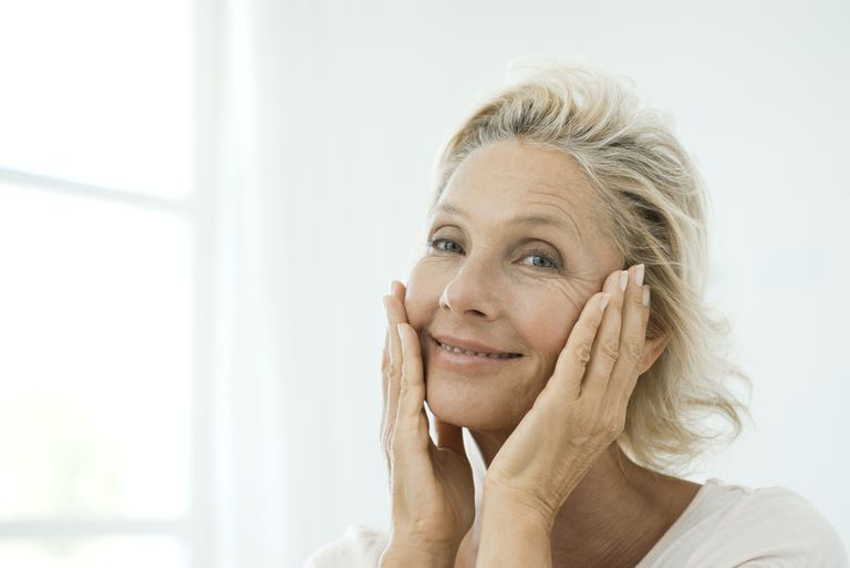 Mature woman with wrinkles
